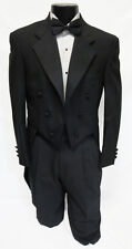 40R Mens Black 100% Wool Chaps 6 Button Notch Tuxedo Tailcoat Butler Theater