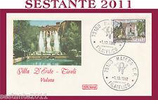ITALIA FDC ROMA VILLE LAZIALI VILLA D'ESTE TIVOLI VEDUTA ANNUL. MATERA 1982 G877
