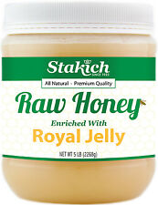 5 lb Royal Jelly Enriched Pure Raw Honey 100% Natural Gluten & GMO Free Fresh