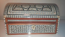 Egyptian, Mother-of-Pearl Inlay,  Wood Jewelry Box