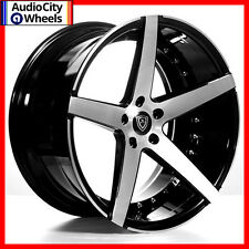 "20"" MQ 3226 WHEELS BLACK MACHINED FACE STAGGERED RIMS 5x120 FIT CAMARO SS"