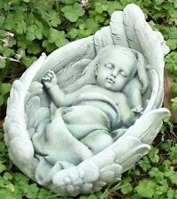 Concrete / Cement Statue Mold Sleeping Baby In Wing Latex rubber / Fiberglass
