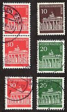 Berlin Germany: Brandenburg Gate, selection most with numbers on back; fine used