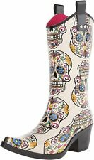 Roxy Sugar Skull Snip Toe Rain Boot - Ladies 7