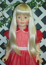 "DOLL Wig, Monique ""Lorie"" Size 19 1/2 in  NEW LIGHT PLATINUM for Patti Playpal"