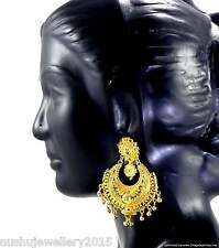 Earrings Bali set Gold Plated Beautiful Trendy Indian Bridal Fashion Jewelry