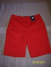 MARKS & SPENCER RED CITY SHORTS SIZE 12 BNWT COTTON STRETCH