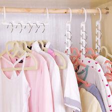 8PCS/Lot De Cintres Vêtements Nœud Crochet Gain d'espace Plastique