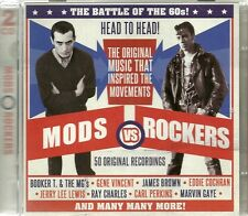 MODS VS ROCKERS 50 ORGINAL RECORDINGS Inc GENE VINCENT, JERRY LEE LEWIS & MORE