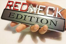 REDNECK EDITION CAR TRUCK FORD EMBLEM LOGO DECAL SIGN CHROME RED NECK *NEW 03