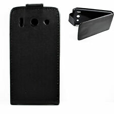 Black Leather Magnetic Flip Phone Full Case Cover Best For HUAWEI Ascend G510