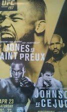 UFC 197 4/23/2016 Poster Jones - Saint Preux New - 18 x 24