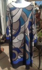 MSK Women NWT Plus Size 3X Gray Multi Colored Dress