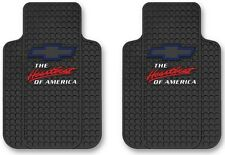 (PAIR) Chevy Heartbeat Of America Universal Floor Mats Trim New Free Shipping