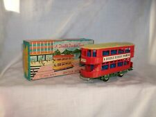 Vintage Plastic Toys  Double Decker Tram Bus Friction Motor  Hong Kong