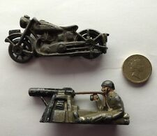Antique Diecast Lead WW1 Toy Soldier Infantry Cannon Bayonet Motorbike Figure.