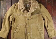 VTG 70s LEE STORM RIDER SUEDE LEATHER SHEARLING WESTERN RANCH COAT JACKET 44R