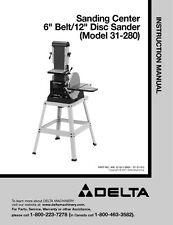 "Delta 31-280 Sanding Center 6"" Belt/12"" Disc Sander Instruction Manual"
