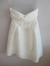 White Textured Bandeau Skater Dress, size 8