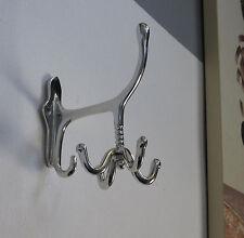 Garderobenhaken Drehbar Jugendstil Luxus Silber Antik Mantel Kleider Wand Haken