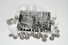 20 Tealight Candle Moulds+30 TL15 wicks. Polycarbonate. To make tealight candles