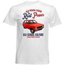 VINTAGE FRENCH CAR PEUGEOT 104 REAL POWER - NEW COTTON T-SHIRT