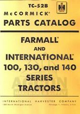 INTERNATIONAL Farmall 100 130 140 Parts Catalog Manual