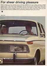 BMW 1600 1800 2000 Ti CS 1966-67 Original UK Sales Brochure Pub. N° 19198e