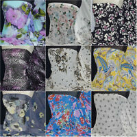 Premium Quality Floral Printed Chiffon Soft Touch Sheer Fabric Material