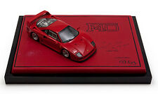 Autobarn models 1/43 ferrari F40 rouge signé par m. collection boss egidio reali