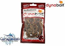 DYNABAIT DRY BLOODWORMS 100% NATURAL FISHING BAIT SALT & FRESH WATER M8785