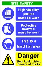 Site Safety Signs - 4mm Correx - 900x600mm