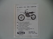advertising Pubblicità 1977 MOTO VILLA CR 250 CROSS