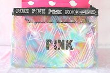 Victoria's Secret PiNK SET/2 Make Up Cases Purse Cosmetic Bikini Bag Tote NWT