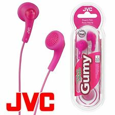 JVC Gumy Gummy HA-F150 In-Ear Canal Earbuds Headphones Earphones Peach Pink