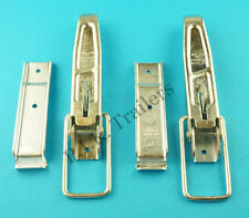 FREE P&P* 2 x HEAVY DUTY LARGE Lockable Over Centre Catch & Plate Trailer #81301