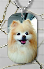 DOG POMERANIAN DOG TAG NECKLACE PENDANT FREE CHAIN -56tg