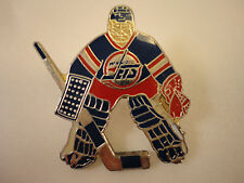 Winnipeg Jets NHL Vintage Goalie Hockey Player Lapel Pin Badge Ultra 1992