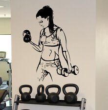 Fitness Gym Wall Decal Vinyl Sticker Female Fitness Sport Home Wall Art Decor 1f