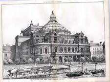1876 New National Opera House Thames Embankment Westminster Fh Fowler