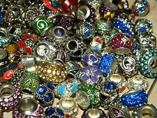 NEW (10/pcs lot) Charms METAL Rhinestone  & European RANDOM Style MIX BEADS