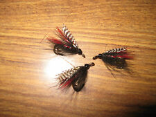 3 V Fly Size 12 RV Ultimate CDC Teal Black & Red Double Sea Trout Flies