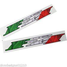 MV Agusta F4 Moto autocollant graphique Drapeau italien style x 2 pièces