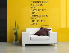 Wall Decor Art Vinyl Sticker Mural Decal Bike Motorcycle Quote Motocross SA685