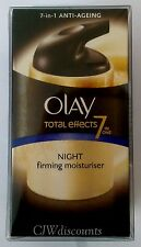 Olay total effect 7 in 1 anti-ageing night firming moisturiser 1 x 50ml BNIP