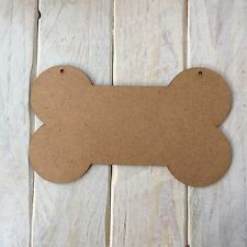 MDF Wood DOG BONE Shape Plaque Blank Make Your Own Plaque Craft Shape