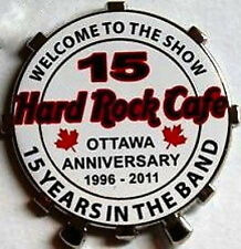 "Hard Rock Cafe OTTAWA 2011 15th Anniversary PIN ""15"" Drum Skin Band Show #61431"