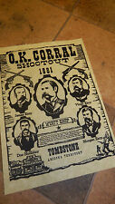 Wyatt Earp,Fight at The OK Coral  WILD WEST POSTERS, Novelty reproductions,
