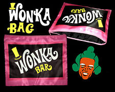 Retro Willy Wonka Chocolate Bar Large Pink Makeup Bag~Unusual Christmas Present