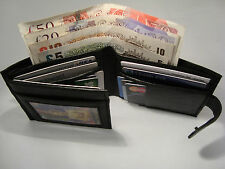 Gents Leather Wallet with 14 Credit Cards Slots and Back Zip for Notes Bifold